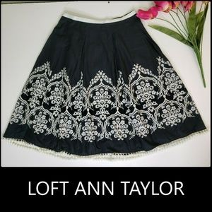 Ann Taylor LOFT Women's Tassel Zipper Back Skirt